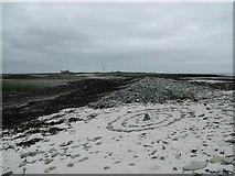 HY7743 : Beach art at Ayre Sound, Sanday, Orkney by Greg Fitchett
