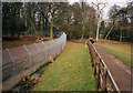 TL0017 : Path by the Wolf enclosure, Whipsnade by Peter Bond