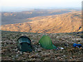 SN7987 : Wild camping on Plynlimon by John Lucas