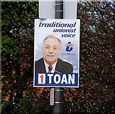 J3774 : Election poster, Belfast (6) by Albert Bridge