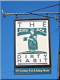 TQ8455 : The Dirty Habit sign by Oast House Archive