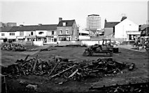 SU1484 : Remains of the demolished Market Hall, Commercial Road, Swindon by P L Chadwick