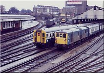 TQ2775 : Clapham Junction Carriage Shed, 1983 by Rob Newman