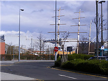 NS5267 : Masts at Braehead by Thomas Nugent
