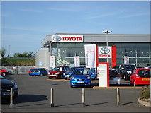 SO9568 : Toyota Garage, Bromsgrove by Rob Newman