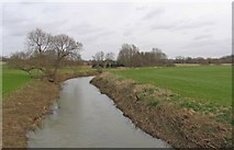 SK6515 : River Wreake towards Melton Mowbray by Andrew Tatlow