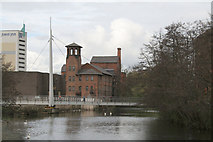 SK3536 : Derby Silk Mill by Alan Murray-Rust