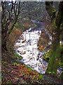 NG2845 : Roskhill River after rain by Richard Dorrell