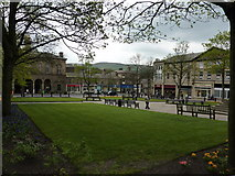 SK0394 : Public garden, Glossop by Peter Barr