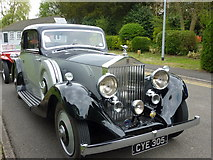 SP8633 : A Rolls Royce car in a line-up outside The Mansion at Bletchley Park by pam fray