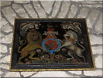 SY5697 : Royal coat of arms - Toller Porcorum by Sarah Smith