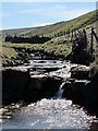NY7536 : Waterfall on the River South Tyne below Calvertfold by Mike Quinn