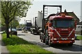 SS4836 : Wind turbine blades passing through Braunton on their way to the Fullabrook Down wind farm by Roger A Smith