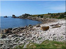 SV8707 : Bay on the south coast of St Agnes by Oliver Dixon