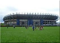 NT2273 : Aspiring rugby players, Roseburn Park by kim traynor