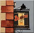 "J3774 : ""Beamish"" sign, Belfast by Albert Bridge"