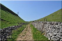 SK1482 : Path up Limestone Way by Ashley Dace