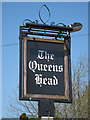 TQ7817 : Queen's Head sign by Oast House Archive