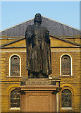 TQ3282 : Statue of John Wesley, City Road, London by Julian Osley