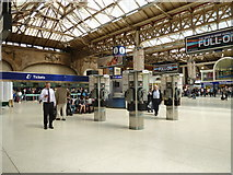 TQ2879 : Three payphones on Victoria Station by Basher Eyre