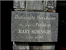 C0136 : Plaque, Dunfanaghy Workhouse by Kenneth  Allen