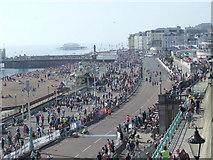 TQ3103 : Brighton marathon, approaching the finish by Malc McDonald