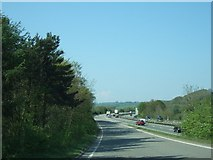 SX8578 : Slip road onto A38 northbound from B3344 by David Smith