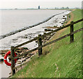 TG4807 : Life belt on the edge of Breydon Water by Evelyn Simak