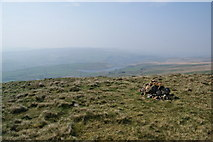 SD9617 : Small cairn by the Pennine Way by Bill Boaden
