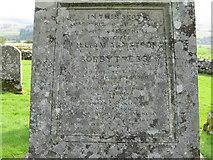 NY4786 : Inscription on the Armstrong Obelisk by M J Richardson