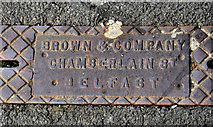 J3774 : Browns drain cover, Belfast by Albert Bridge
