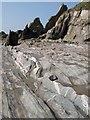 SX6345 : Wave-cut platform, Westcombe Beach by Derek Harper