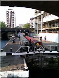 TQ3681 : Limehouse Basin/Regent's Canal lock by C Brett
