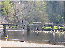 SE0754 : River Crossings at Bolton Abbey by Mike Smith