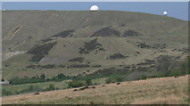 SO5977 : Radar domes on Titterstone Clee Hill by Mat Fascione
