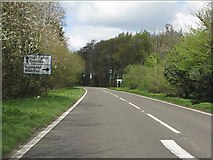 SP4121 : A44 at the B4027 junction by Peter Whatley