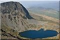 SH7013 : Llyn y Gadair and Cyfrwy from Cadair Idris by Hugh Chevallier