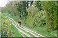 SU5654 : Cyclist heading for Ibworth by Graham Horn