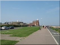 TR3752 : Saxon Shore Way and National Cycle Network 1 near Deal Castle by David Anstiss