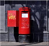 J3476 : Pillar box, Belfast by Albert Bridge