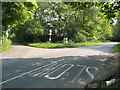 TQ5626 : Road junction in the woods by Stephen Craven