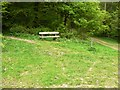 SO5204 : Bench at a footpath junction by Claire Seyler