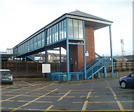 SS7597 : Milland Footbridge, Neath railway station by Jaggery