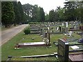 SZ0196 : Broadstone Cemetery by Mike Faherty
