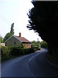TM3464 : B1119 Low Road, Rendham by Adrian Cable
