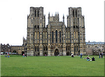 ST5545 : Wells Cathedral west front by Stuart Logan