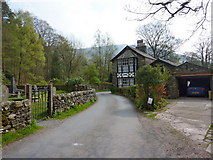 SD2296 : Road to the south of Holy Trinity Church, Seathwaite by Alexander P Kapp