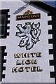 SH6076 : White Lion Hotel, Beaumaris, Sign by Christine Matthews