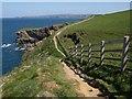 SW9881 : Coast path above Greengarden Cove by Derek Harper