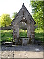 NZ0810 : Village drinking trough, Barningham by Stanley Howe